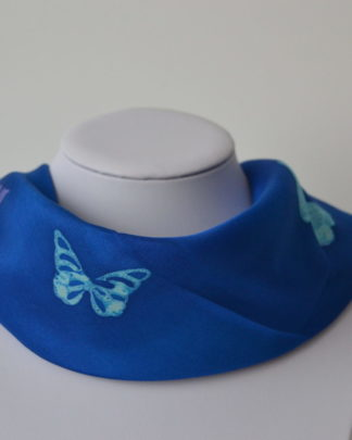 Foulard en soie papillons